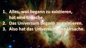 Der kosmologische Gottesbeweis