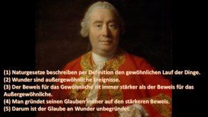 David Humes Argument gegen Wunder