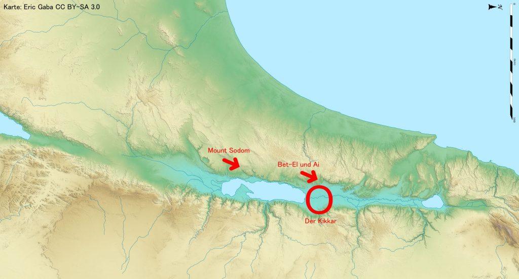 Karte vom Toten Meer