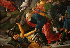 Petrus haut das Ohr des Malchus ab